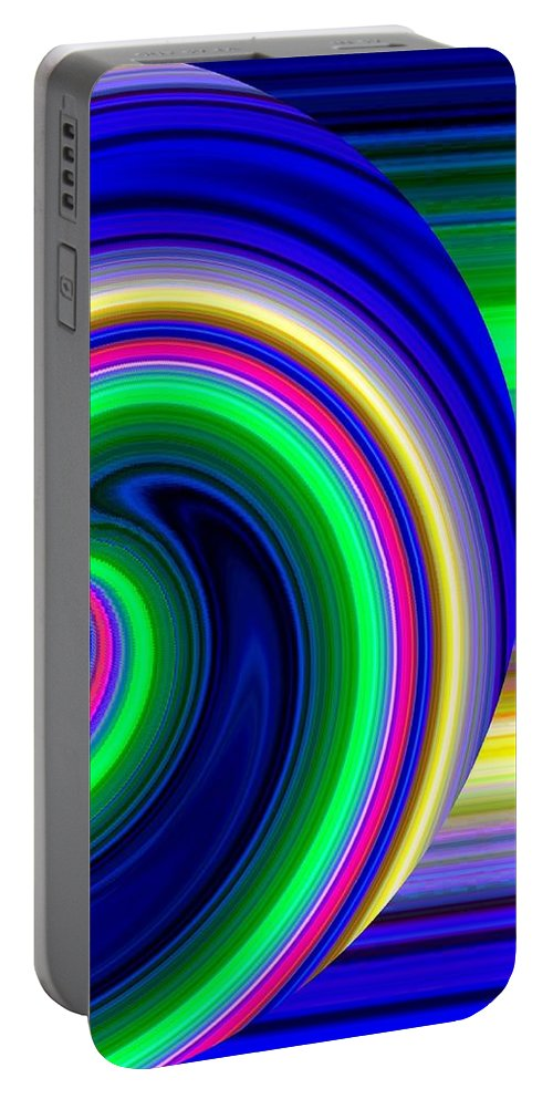 Abstract Portable Battery Charger featuring the digital art Harmony 19 by Will Borden