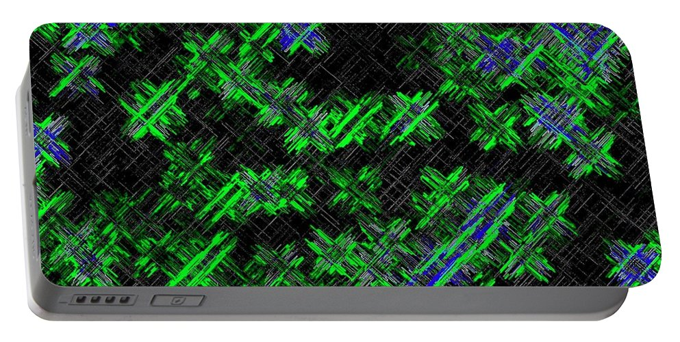 Abstract Portable Battery Charger featuring the digital art Harmony 33 by Will Borden