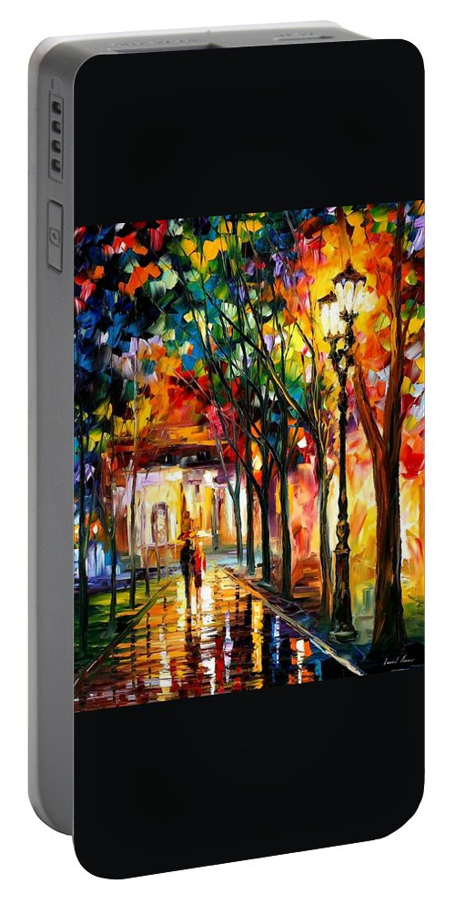 Afremov Portable Battery Charger featuring the painting Harmony by Leonid Afremov