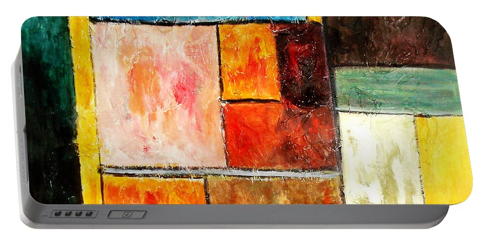 Acrylic Painting Portable Battery Charger featuring the painting Harmony by Yael VanGruber