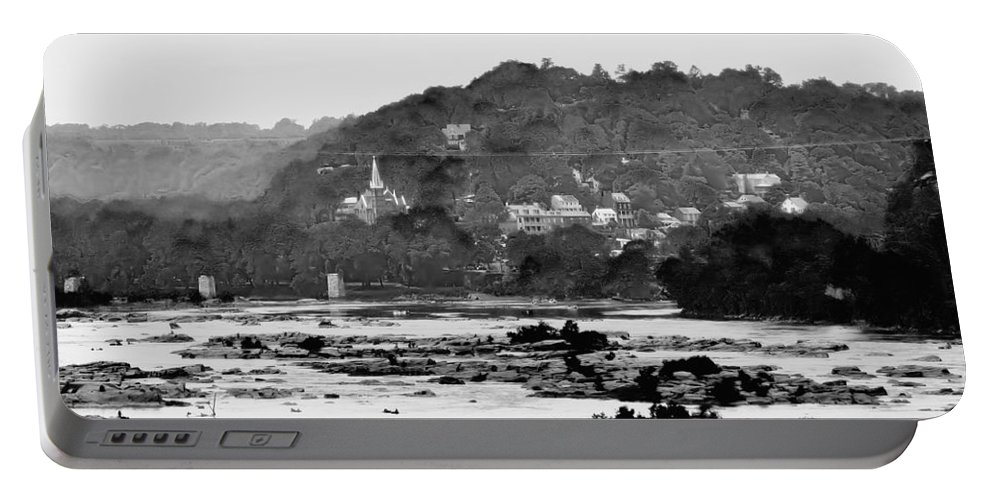 Harpers Ferry Portable Battery Charger featuring the photograph Harper's Ferry From Across The Potomac by Bill Cannon