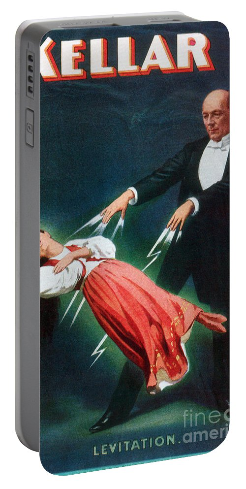 1894 Portable Battery Charger featuring the photograph Harry Kellar (1849-1922) by Granger