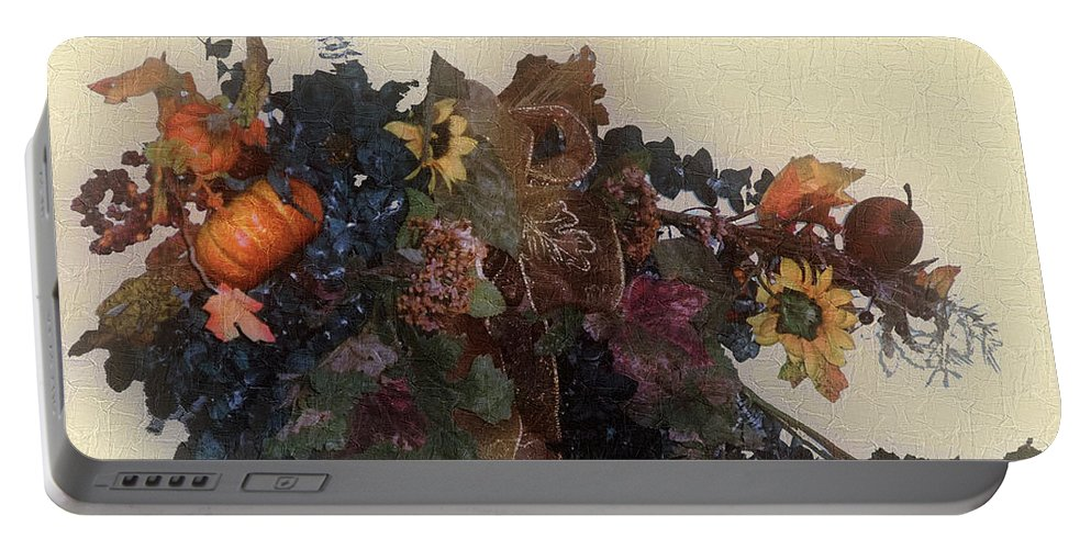 Autumn Portable Battery Charger featuring the painting Harvest Home by RC DeWinter