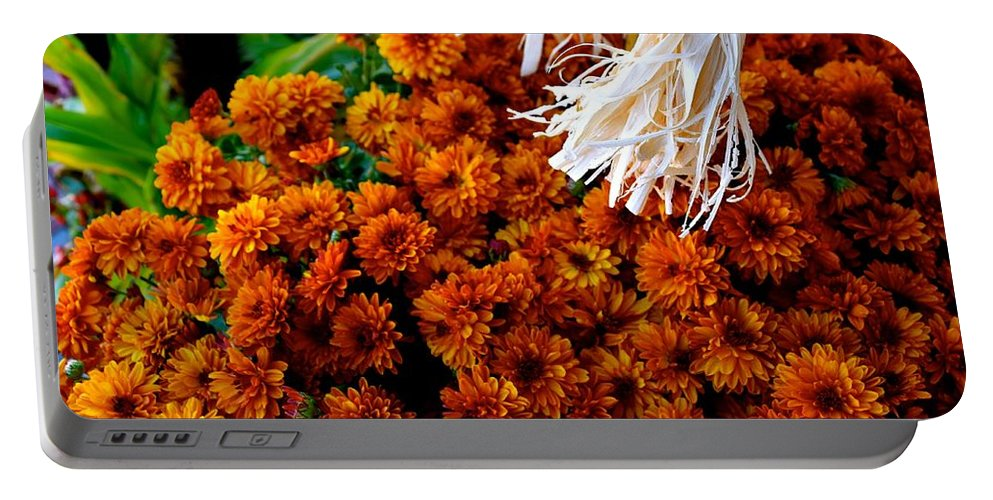 Fall Portable Battery Charger featuring the photograph Harvest Mums by Bri Lou