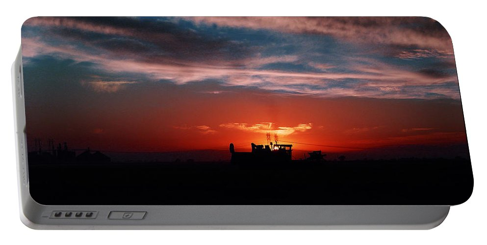 Sunset Portable Battery Charger featuring the photograph Harvest by Peter Piatt