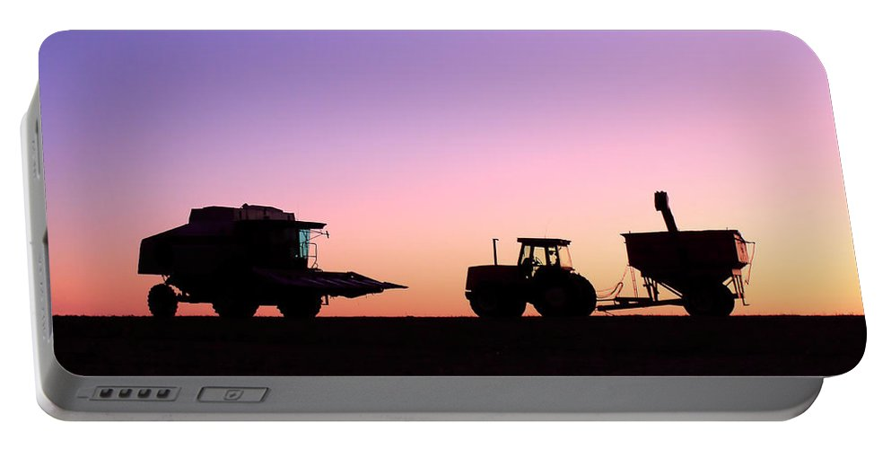 Backlit Portable Battery Charger featuring the photograph Harvest Sky by Todd Klassy