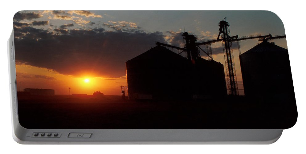 Harvest Portable Battery Charger featuring the photograph Harvest Sunset by Jerry McElroy