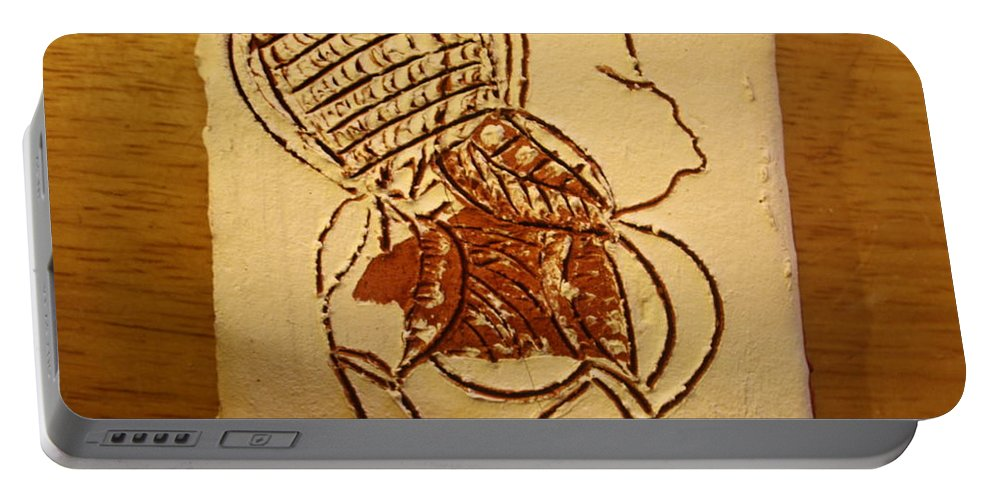 Jesus Portable Battery Charger featuring the ceramic art Has Been - Tile by Gloria Ssali