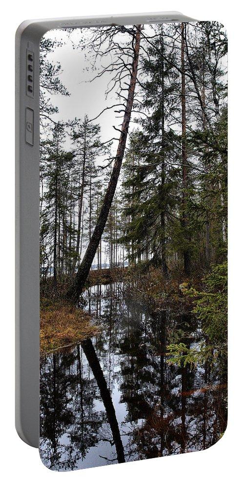 Lehtokukka Portable Battery Charger featuring the photograph Haukkajoki by Jouko Lehto