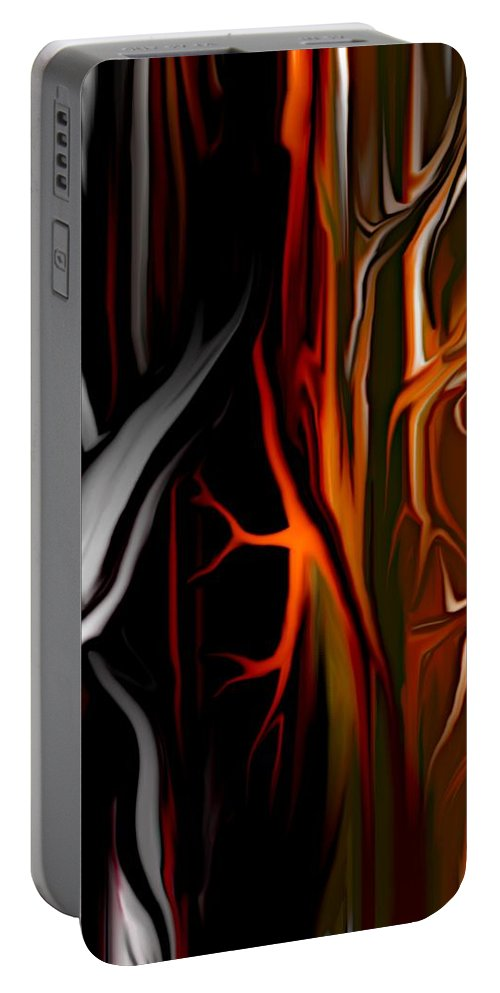 Abstract Digital Painting Portable Battery Charger featuring the digital art Haunted by David Lane