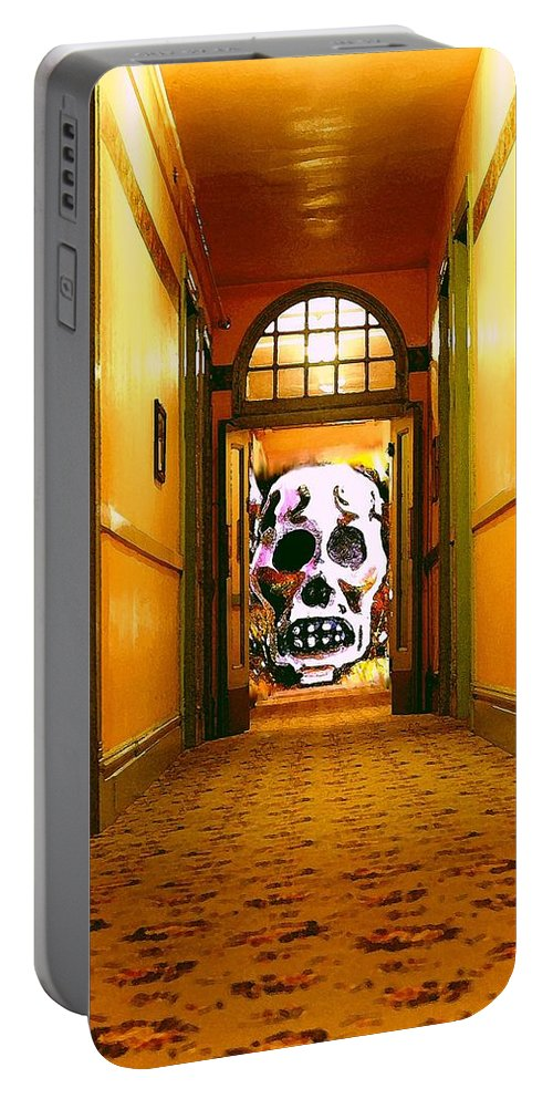 Haunted Portable Battery Charger featuring the photograph Haunted Hallway by Nelson Strong