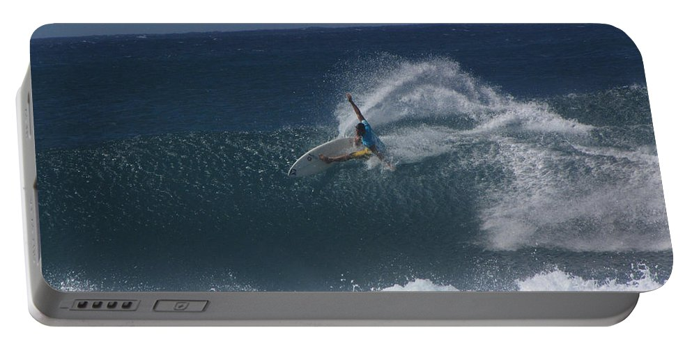 Surfer Portable Battery Charger featuring the photograph Hawaii Pipeline by Sarah Houser