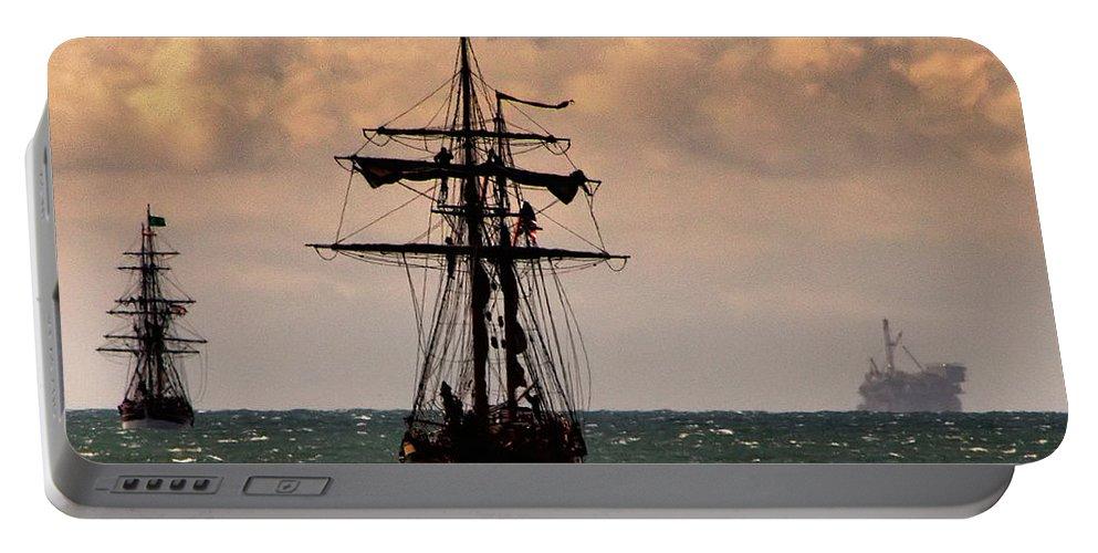 Tall Ship. Hawaiian Chieftain Portable Battery Charger featuring the photograph Hawaiian Chieftain-3 by Michael Gordon