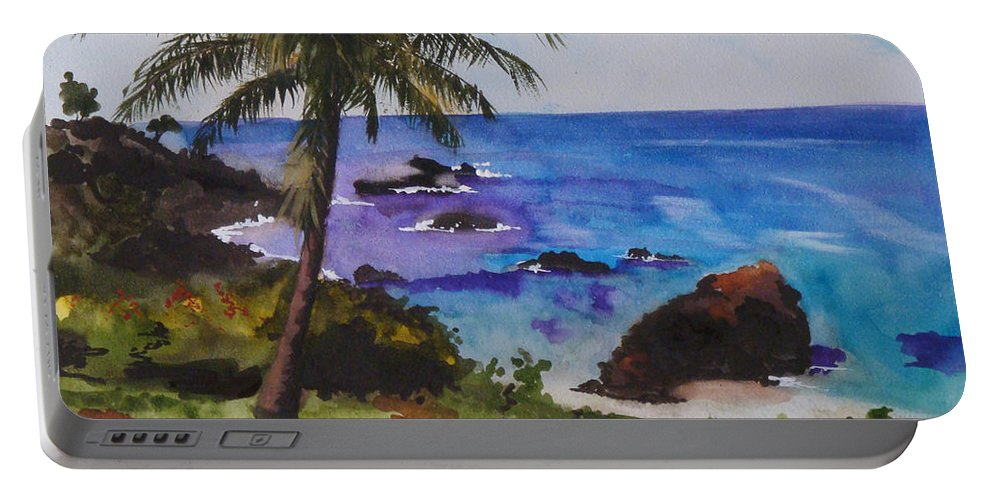 Hawaii Portable Battery Charger featuring the painting Hawaiian Splendor by Jean Blackmer