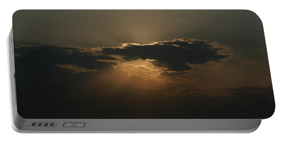 Sunset Portable Battery Charger featuring the photograph Hawaiian Sunset by Alynne Landers