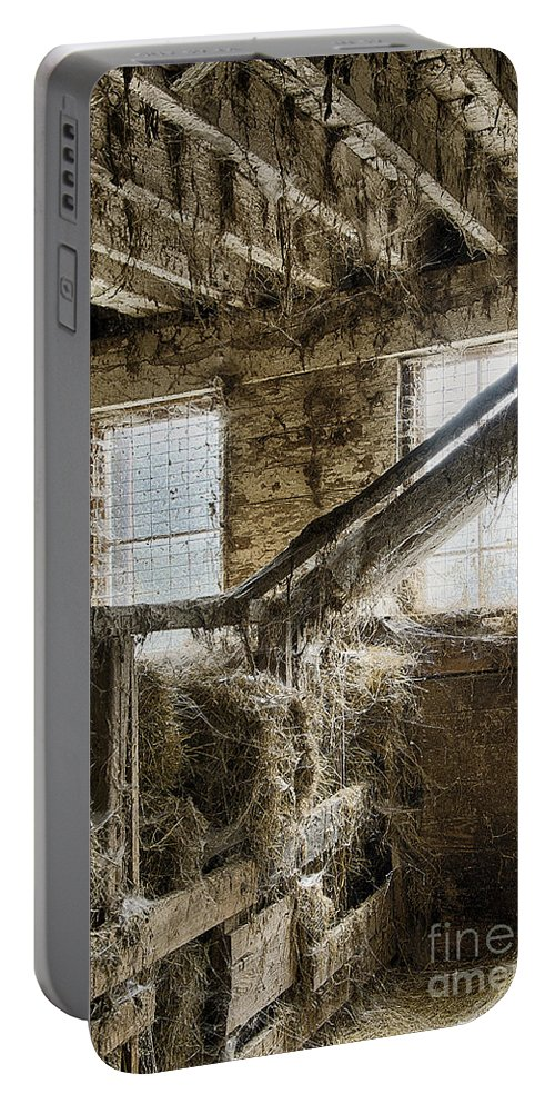 Chadds Ford Portable Battery Charger featuring the photograph Hay Barn by John Greim