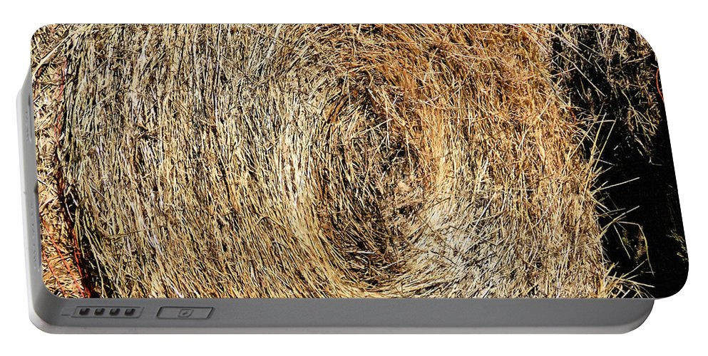 Hay Bay Rolls Portable Battery Charger featuring the painting Hay Bay Rolls 5 by Jeelan Clark