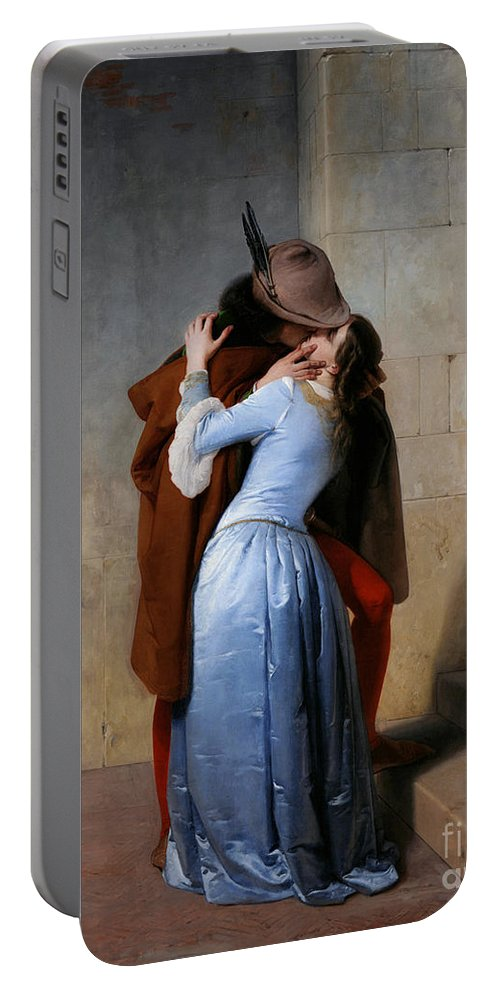 19th Century Portable Battery Charger featuring the painting Hayez, The Kiss by Granger