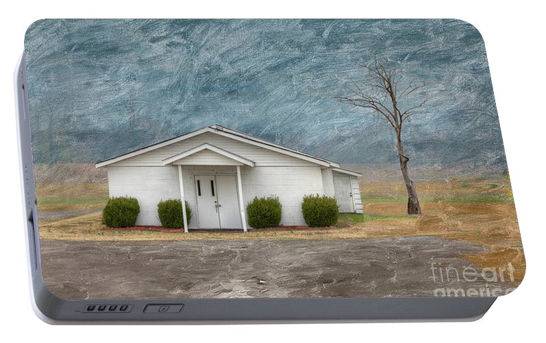 Horizontal Portable Battery Charger featuring the digital art Haywood City Missouri by Larry Braun