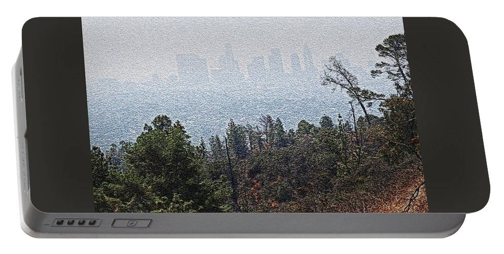 Los Angeles Skyline Portable Battery Charger featuring the photograph Hazy L.a. by Robert Butler