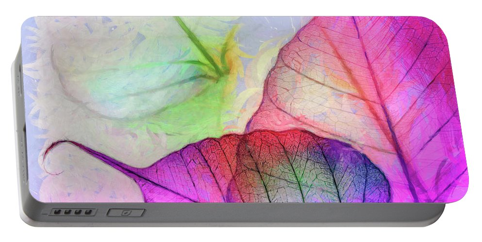 Leaves Portable Battery Charger featuring the digital art Hc0268 by Heloisa Castro