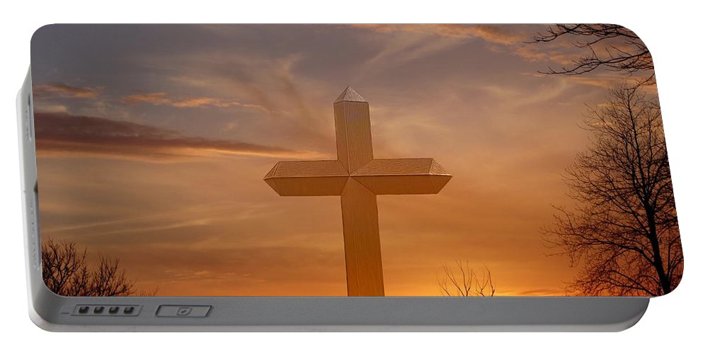 Effingham Portable Battery Charger featuring the photograph A Cross The Universe by Theresa Campbell