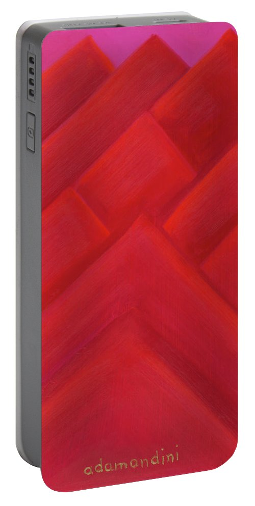 He Tu Portable Battery Charger featuring the painting He Tu Fire by Adamantini Feng shui