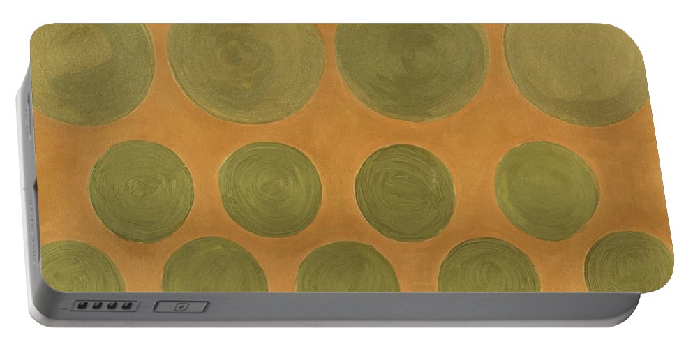 Adamantini Portable Battery Charger featuring the painting He Tu Metal by Adamantini Feng shui