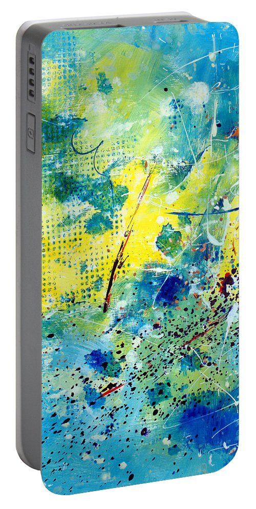ruth Palmer Portable Battery Charger featuring the painting He Watches Over Me by Ruth Palmer