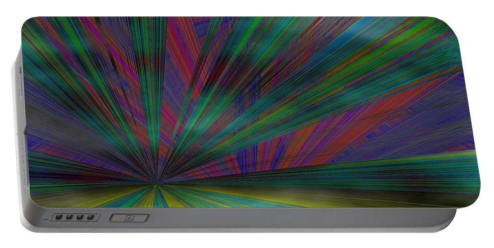 Abstract Portable Battery Charger featuring the digital art Head In The Clouds by Tim Allen