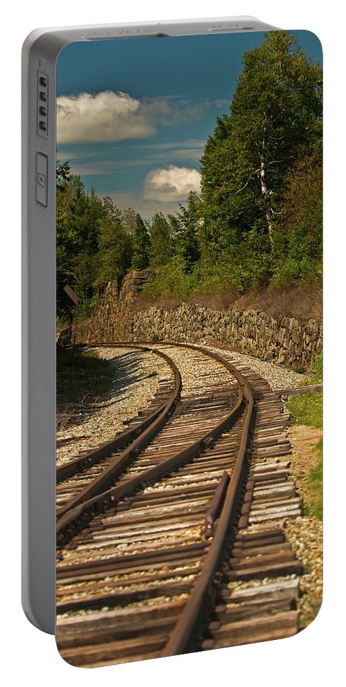 white Mountains Portable Battery Charger featuring the photograph Heading South by Paul Mangold
