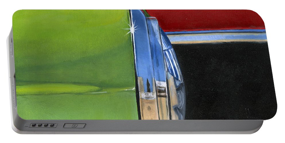 Car Portable Battery Charger featuring the painting Headlight by Rob De Vries