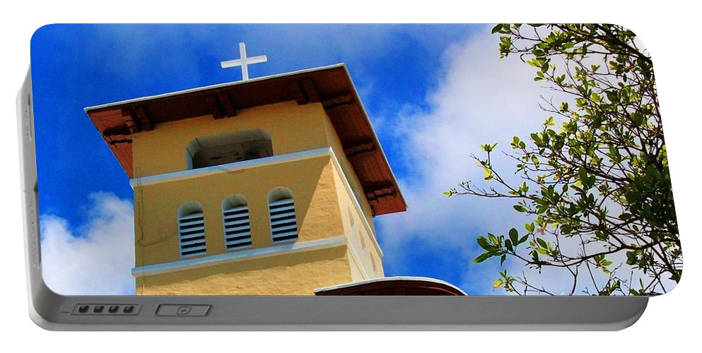 Cross Portable Battery Charger featuring the photograph Heads Up by Debbi Granruth