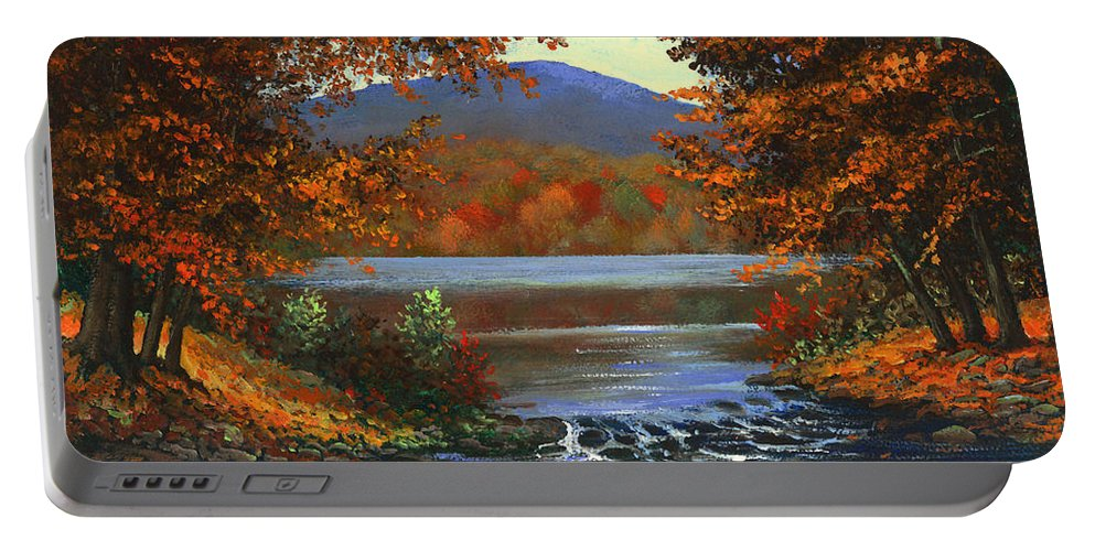 Landscape Portable Battery Charger featuring the painting Headwaters by Frank Wilson
