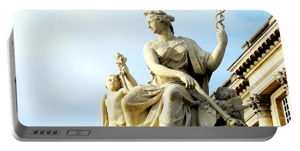 Statues Portable Battery Charger featuring the photograph Healing by Amanda Barcon