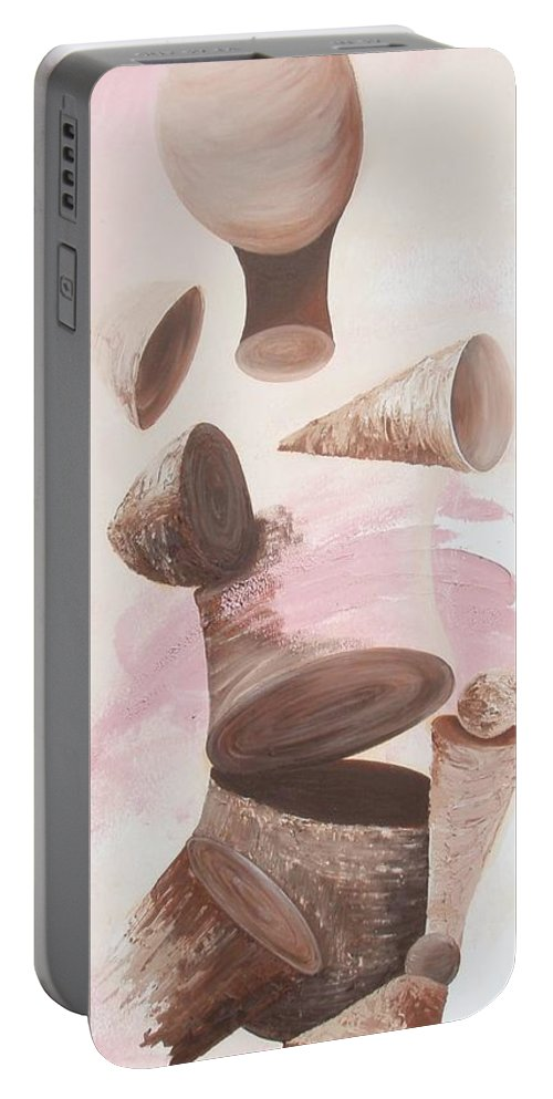 Healing Portable Battery Charger featuring the painting Healing Energy Collection by Catt Kyriacou