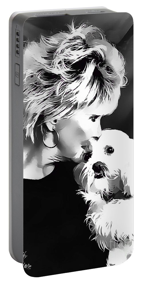 Dog Portable Battery Charger featuring the digital art Healing by Kathy Tarochione