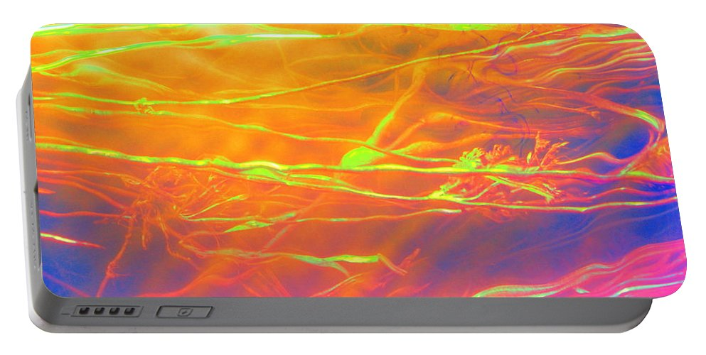 Abstract Portable Battery Charger featuring the photograph Healing Intervention by Sybil Staples