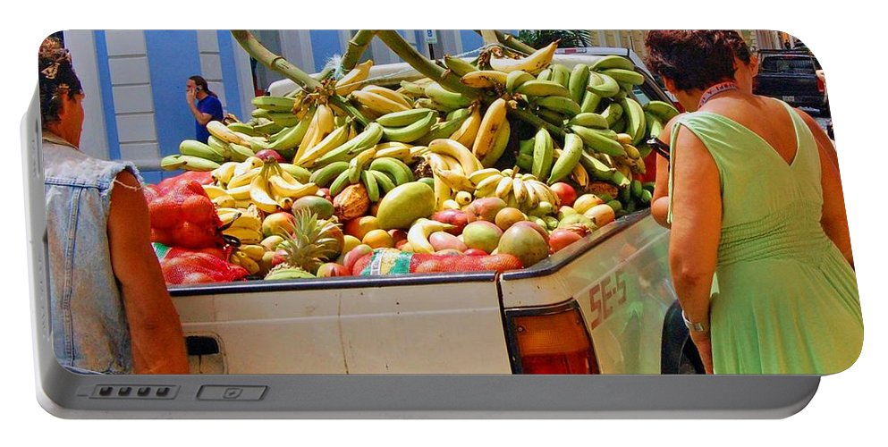 Fruit Portable Battery Charger featuring the photograph Healthy Fast Food by Debbi Granruth