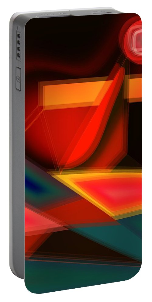 Heartbeat Portable Battery Charger featuring the digital art Heartbeats by Helmut Rottler