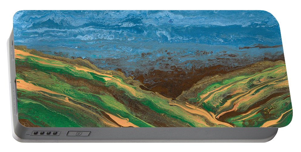 Heartland Portable Battery Charger featuring the painting Heartland by Andrea Skeries