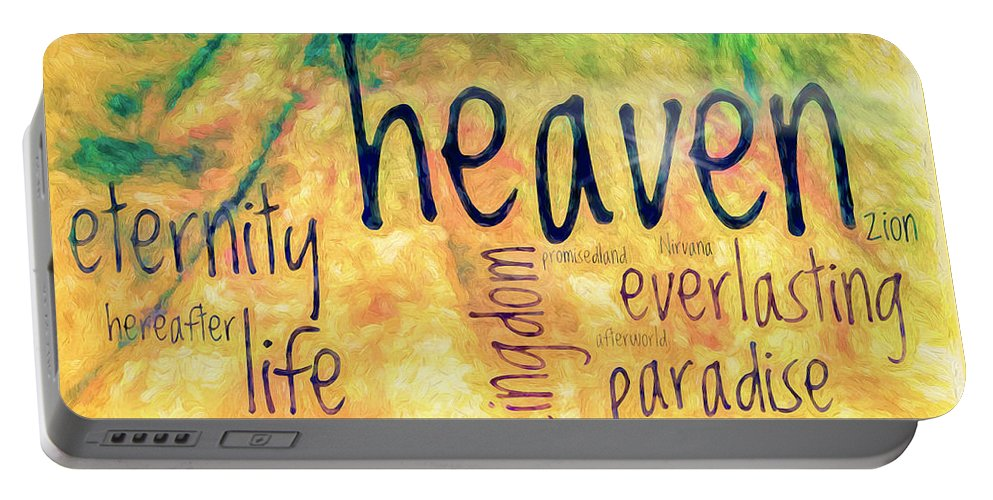Heaven Portable Battery Charger featuring the photograph Heaven by Jean OKeeffe Macro Abundance Art
