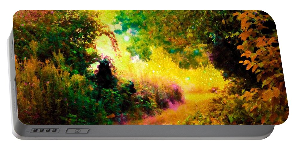 Fantasy Landscape Portable Battery Charger featuring the photograph Heaven's Garden by Johari Smith