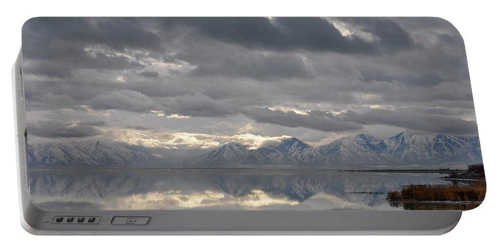 Utah Lake Portable Battery Charger featuring the photograph Heaven Meets Earth by Kat Cortez