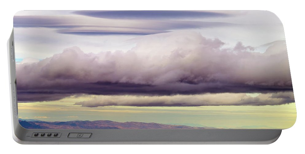 Lake Tahoe Portable Battery Charger featuring the photograph Heavenly Clouds by Christopher Johnson