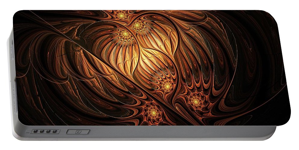 Digital Art Portable Battery Charger featuring the digital art Heavenly Onion by Amanda Moore