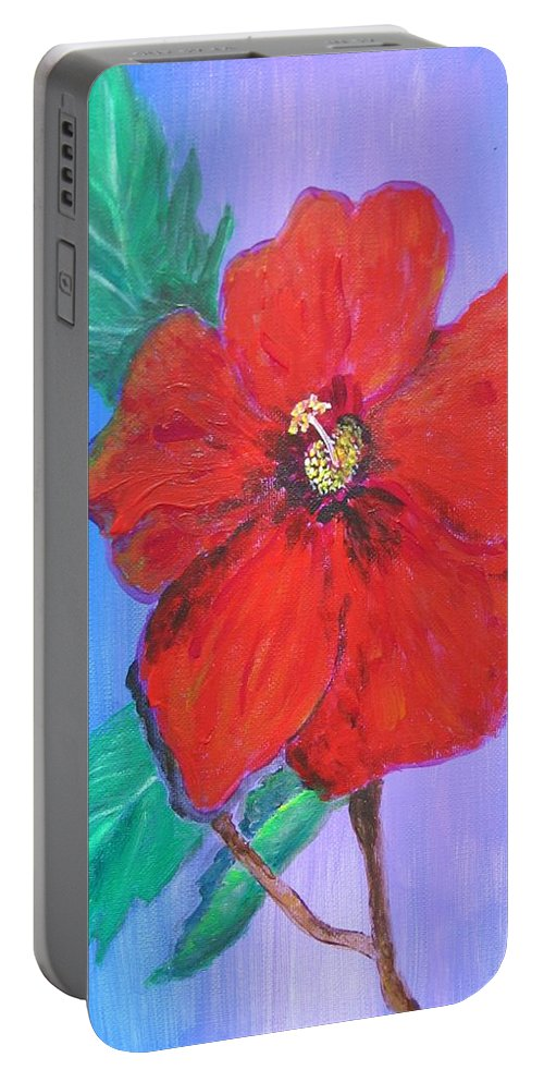 Acrylic Portable Battery Charger featuring the digital art Heavenly Scent by Maria Watt