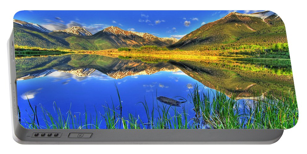 Mountains Portable Battery Charger featuring the photograph Heavenly by Scott Mahon