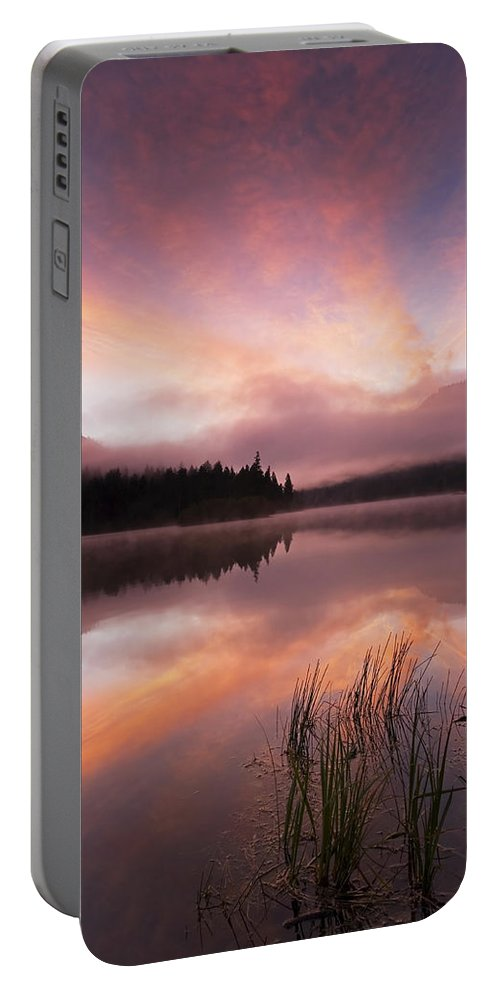 Sunrise Portable Battery Charger featuring the photograph Heavenly Skies by Mike Dawson
