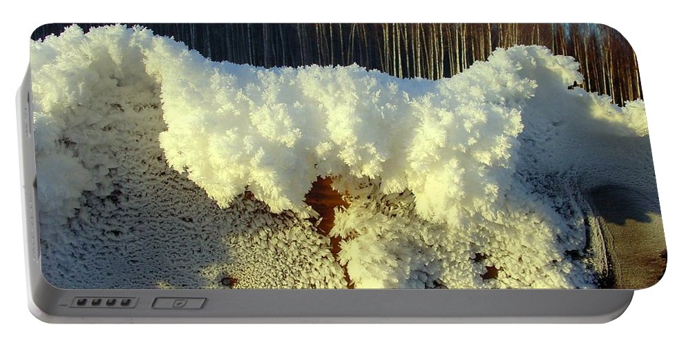 Ice Portable Battery Charger featuring the photograph Heavy Frost by Ron Bissett